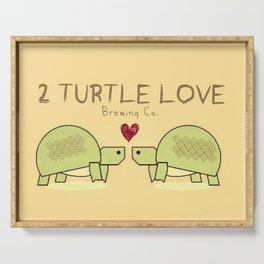 Two Turtle Love Serving Tray