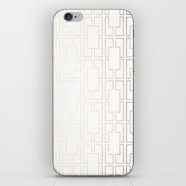 Simply Mid-Century in White Gold Sands iPhone Skin