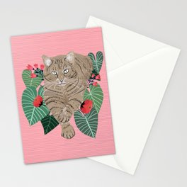 Self confident cat Stationery Cards