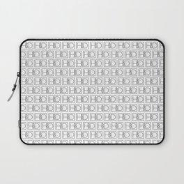 HD Soap Black Tiled on White Laptop Sleeve