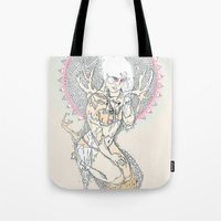 hunter x hunter Tote Bags featuring hunter by Cassidy Rae Marietta