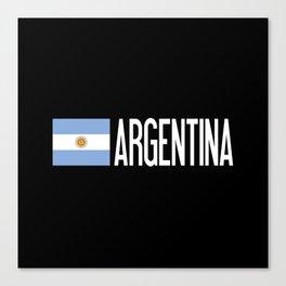 Argentina: Argentinian Flag & Argentina Canvas Print