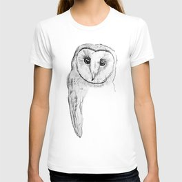 Barn Owl Sketch T-shirt