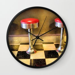olde time stools Wall Clock