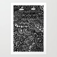 zentangle Art Prints featuring Zentangle by Maria Gracia