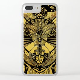 SKY FACES. Clear iPhone Case