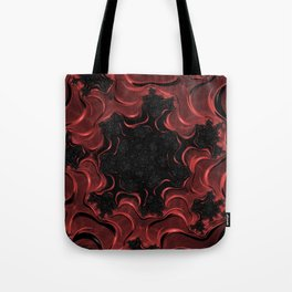 Red Goopy Fractal Tote Bag