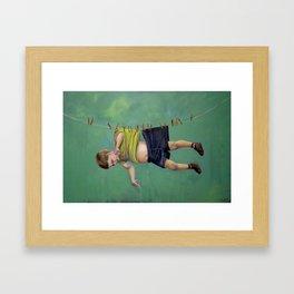 Boy on the Line Framed Art Print