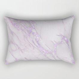 Marble Love Purple Metallic Rectangular Pillow