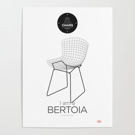 Bertoia (minimalistic version) Poster