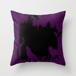 Potter clock and patronus group  Throw Pillow