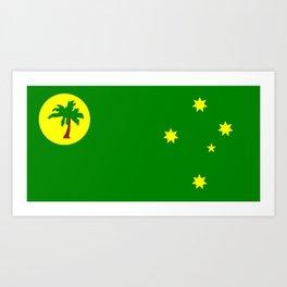 Cocos Keeling Islands flag Art Print