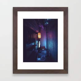 Tokyo Nights / Lonely Lantern / Liam Wong Framed Art Print