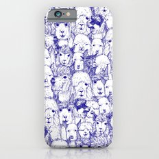 just alpacas blue white iPhone 6 Slim Case