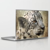 snow leopard Laptop & iPad Skins featuring Snow Leopard by Jai Johnson