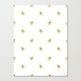 Gold Watercolour Bee Print Canvas Print