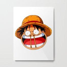 Luffy & Nose Sticks! Metal Print