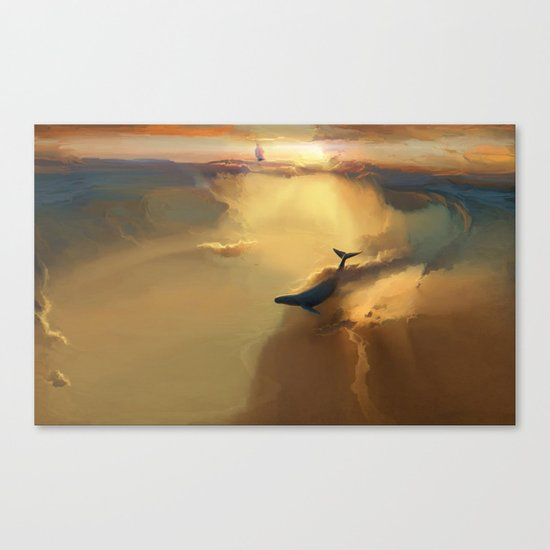 In the sea of gold Canvas Print