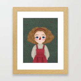Big Curly Hair Framed Art Print