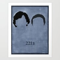 221b Art Prints featuring 221B by Minimalist Portraits