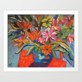 Blooms Bustin' Out Art Print