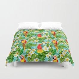 Tropical Parrot Chillin Duvet Cover