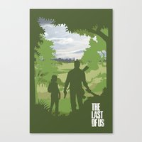last of us Canvas Prints featuring The Last Of Us by Pixel Design
