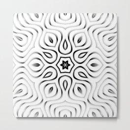 Light 3D Petal Waves Pattern Metal Print