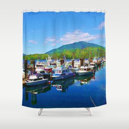 Harbour Life - Prince Rupert, BC Shower Curtain