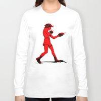 boxing Long Sleeve T-shirts featuring Boxing 2 by Rachel E. Morris