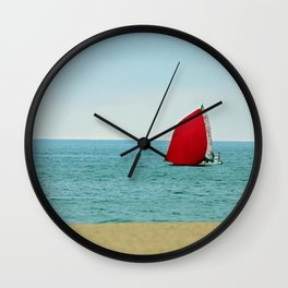 The Red Sail Wall Clock