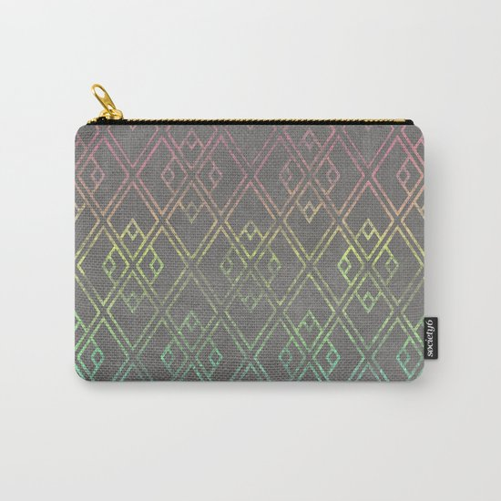 Square Patina Carry-All Pouch