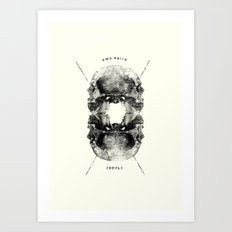 Two-Faced People Art Print