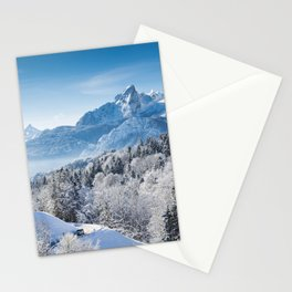 Winter's Coming on the Mountains Stationery Cards