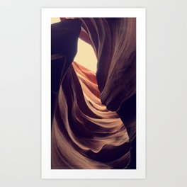 Wind Kissed Canyons Art Print