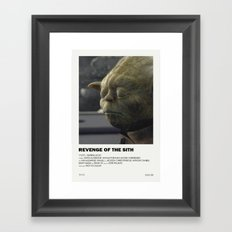 Revenge of the Sith Alternative Vintage Poster Framed Art Print