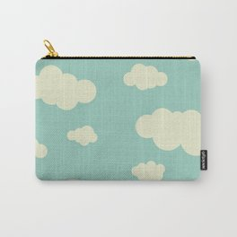 Vintage Clouds Carry-All Pouch