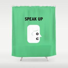 Speak Shower Curtain