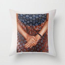 Velvet Dress Throw Pillow