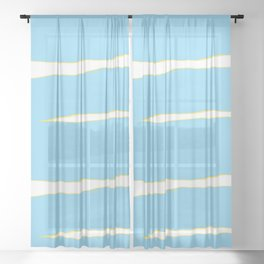 Water Scape  Sheer Curtain