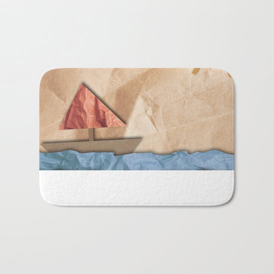 Paper Sea Bath Mat