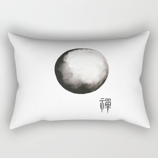 "Zen painting and Chinese calligraphy of ""Zen"" Rectangular Pillow"