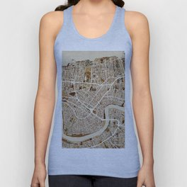 New Orleans Street Map Unisex Tank Top