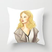 moriarty Throw Pillows featuring elementary: moriarty by roanne Q