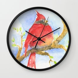 Mr. Cardinal Wall Clock