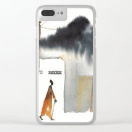 Returning home before the storm Clear iPhone Case