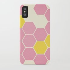 Pink Honeycomb iPhone X Slim Case