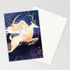 Artemis and the Ceryneian Hind Stationery Cards