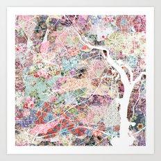 Arlington map Art Print