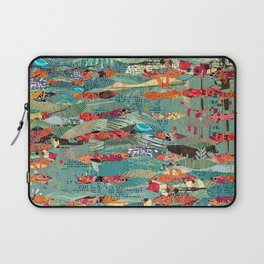 Goodbye Wave Abstract Art Collage Laptop Sleeve